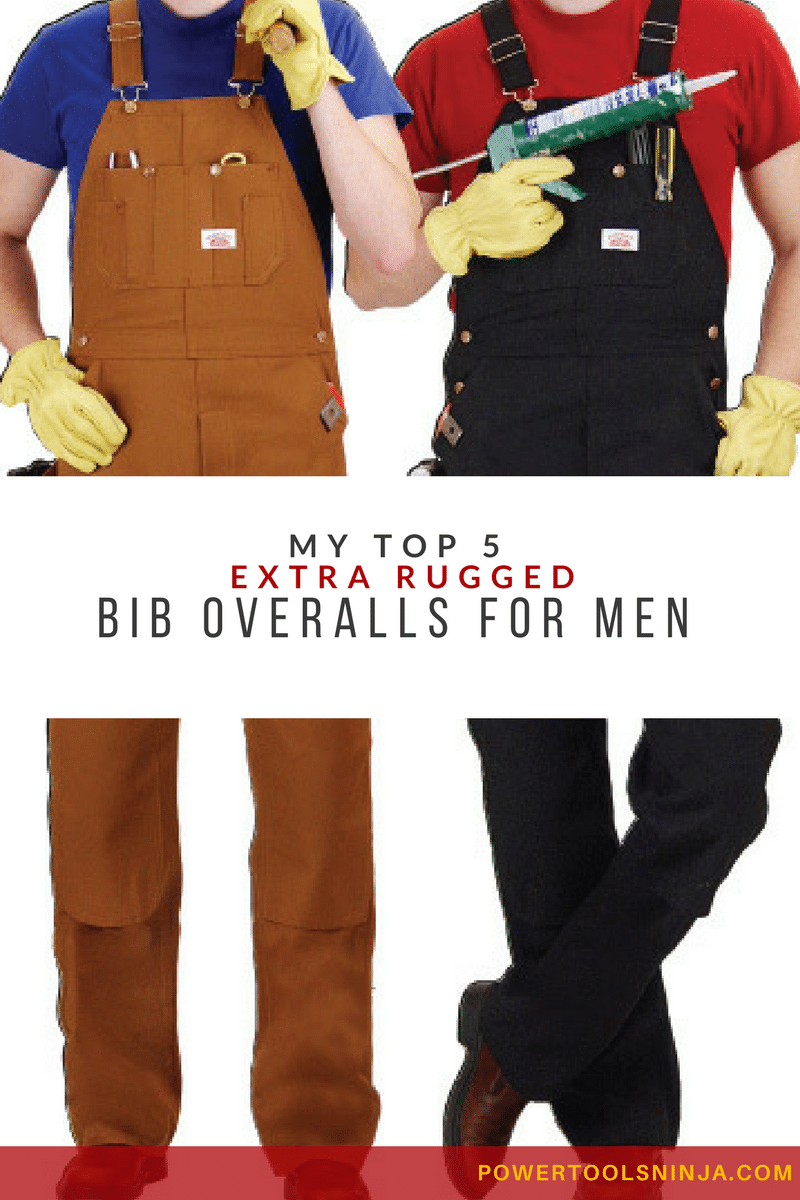 Hand picked selection of five top quality, extra rugged bib overalls for men. Big pockets, soft and comfortable material, perfect fit!