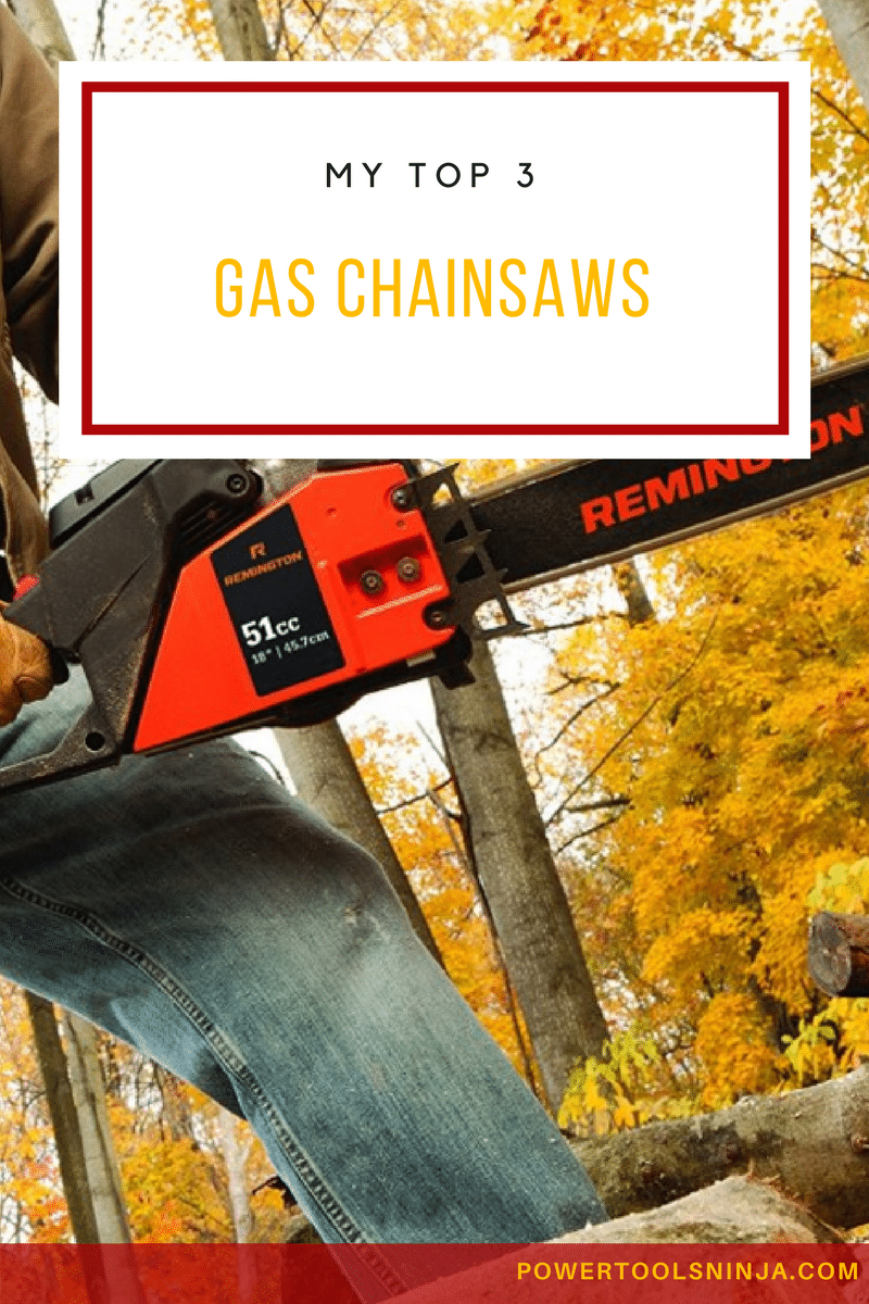 Looking for a gas chainsaw model that is value for your money?Here you will read a head to head comparison of my favorite top three chainsaws!