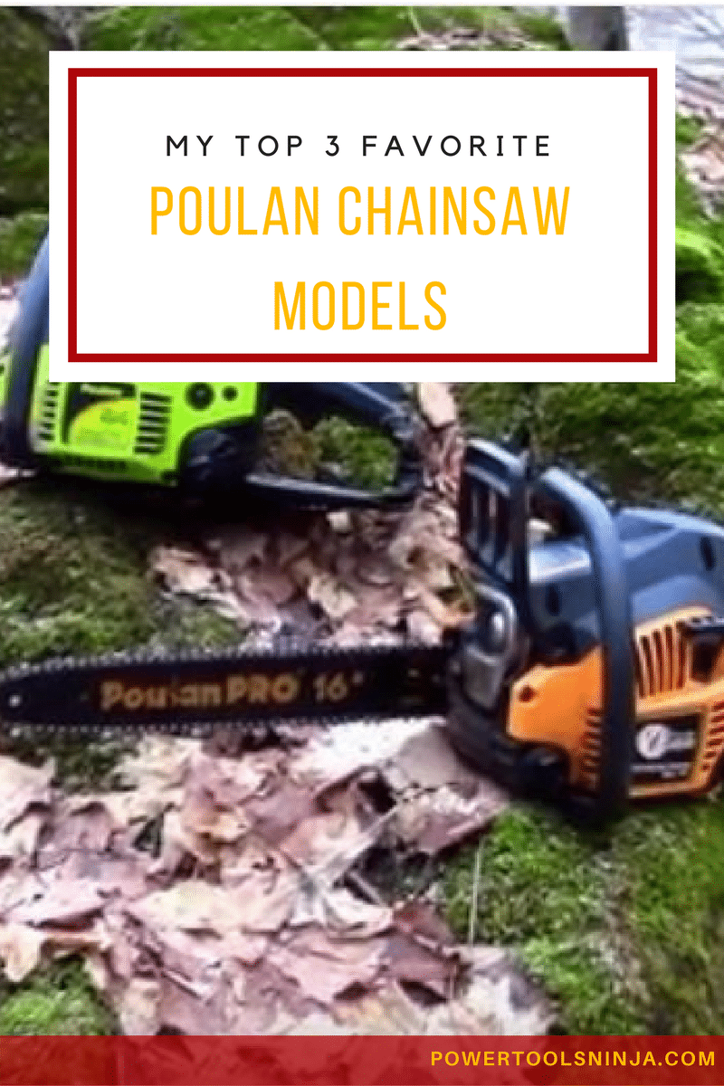 Poulan Chainsaw Models