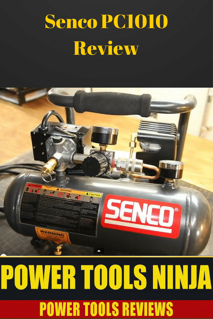If you need a small, light weight, ultra quiet air compressor for light DIY projects, then read our detailed Senco PC1010 review!