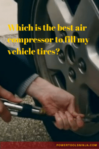 portable car air compressor for inflating tires