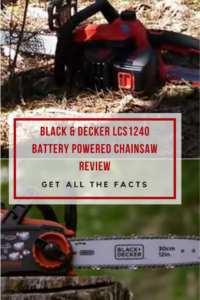Black & Decker LCS1240 Battery Powered ChainSaw Review