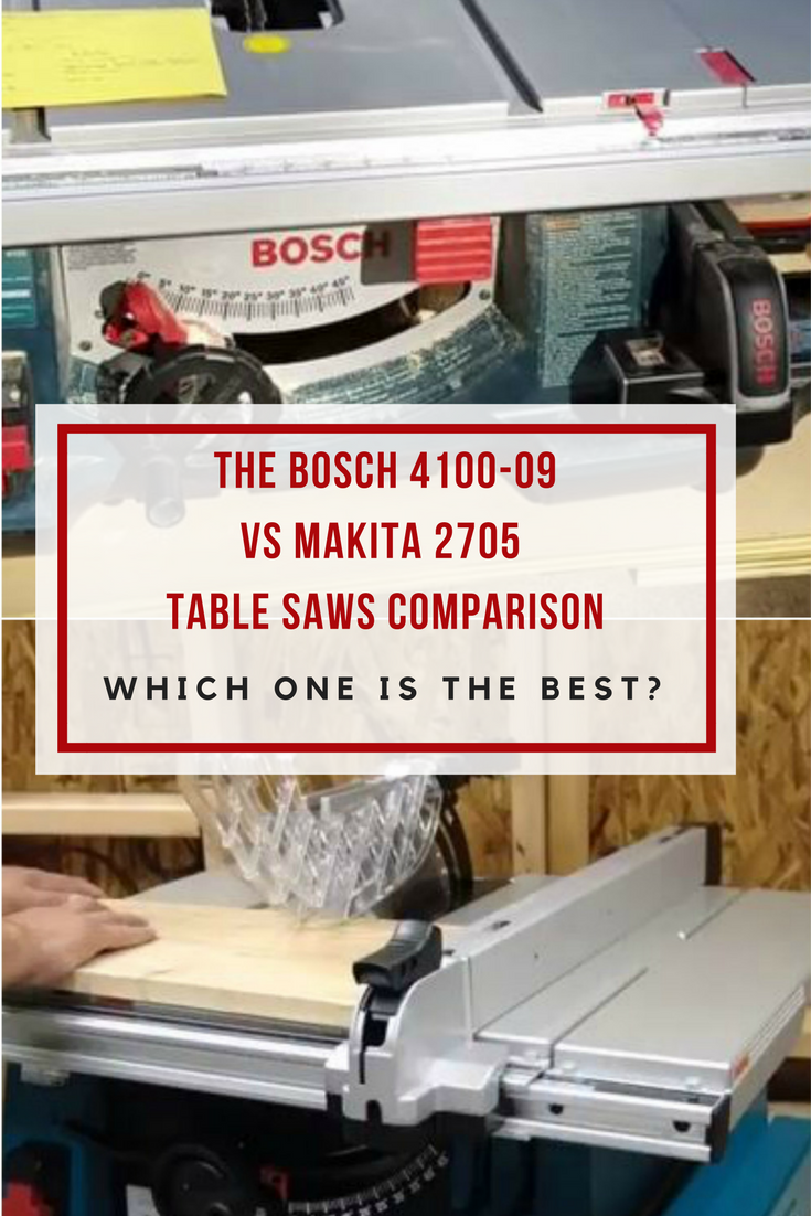 In this Bosch 4100-09 vs Makita 2705 comparison, we compare all the important features of the most popular table saws in the $500-$600 range.