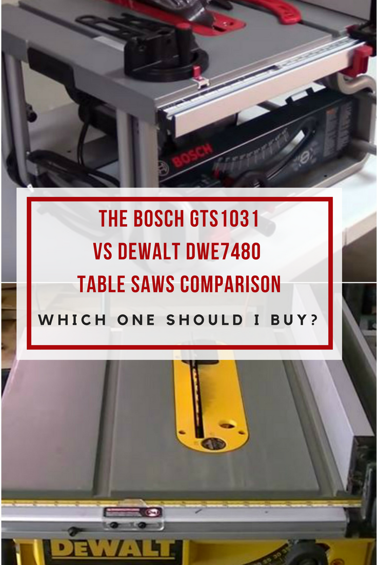 Bosch GTS1031 vs DeWALT DWE7480 Table Saws Head To Head