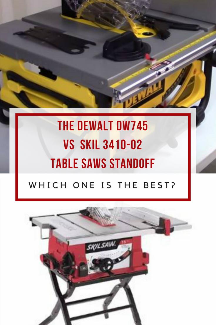 DeWALT DW745 Vs SKIL 3410-02 standoff