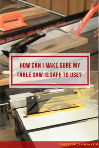 Table Saw Safety And Procedures