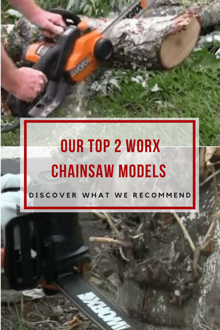 Discover two top quality Worx chainsaw electric powered models; one equipped with a 14 inch chain and the other with an 18 inch chain!