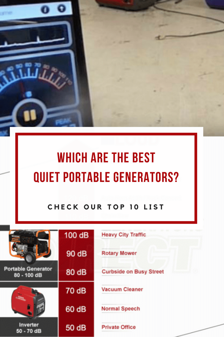 If you are sensitive about generator noise levels, then we are proud to present to you our top 10 list of quiet portable generators.
