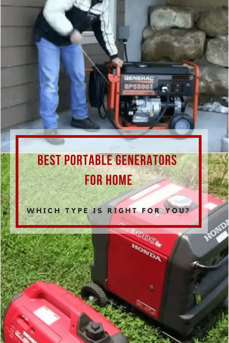 Gas powered inverter, solar powered, or standby? Read our guide to learn all about pros and cons for the best portable generator for home.