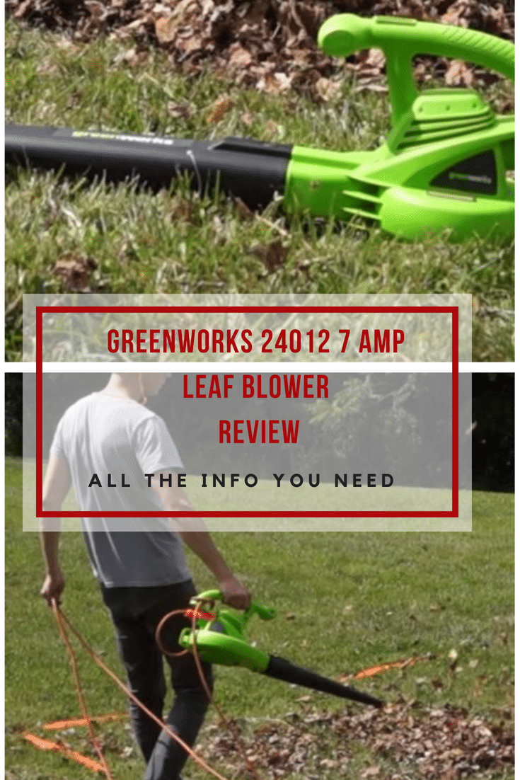 GreenWorks 24012 7 Amp Single Speed Electric 160 MPH Leaf Blower
