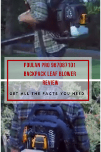 Poulan Pro 967087101 Backpack Leaf Blower
