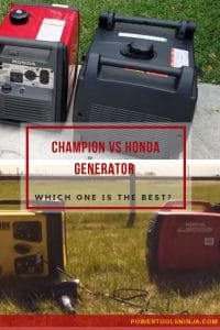 Champion Vs Honda Generator - Which One Is The Best?