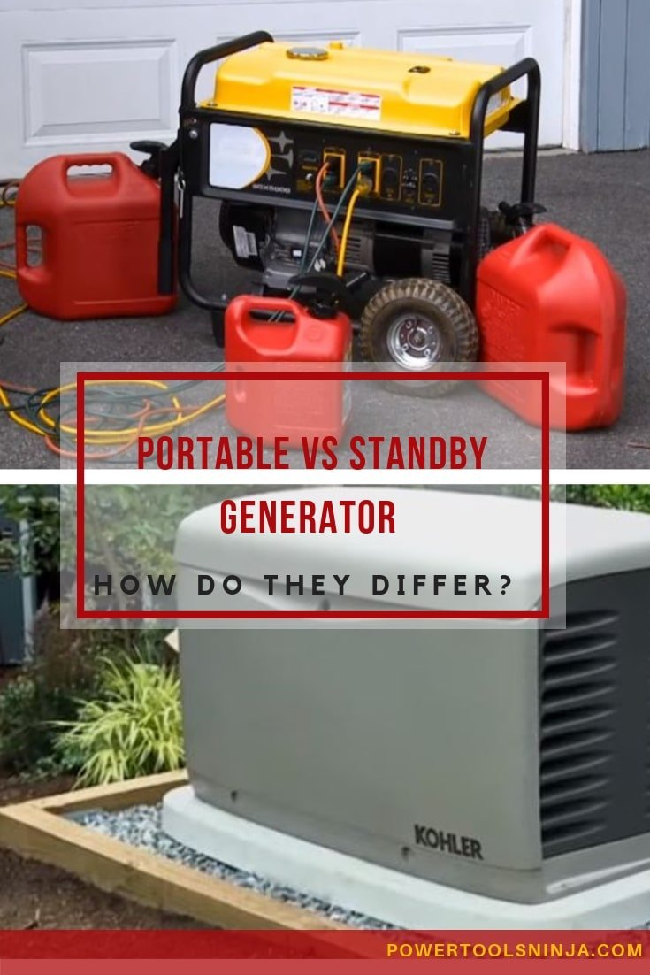 Portable vs standby generator-How Do They Differ