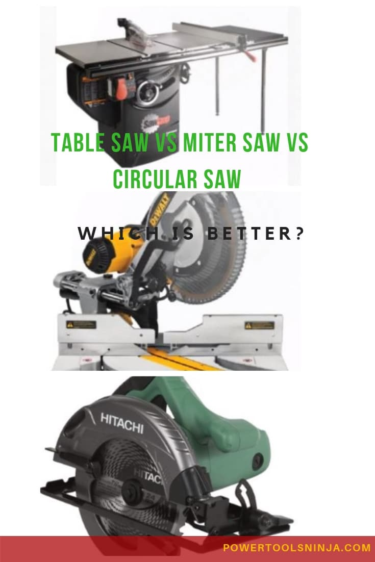 Table Saw Vs Miter Saw Vs Circular Saw-Which Is Better