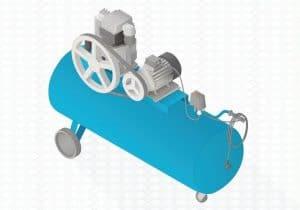 blue pneumatic air compressor