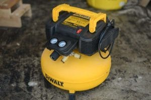yellow and black pancake air compressor