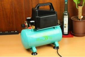 A noisy air compressor