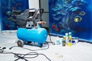 aerography equipment in home interior