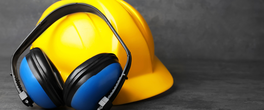 Ear Protection and Hard Hat