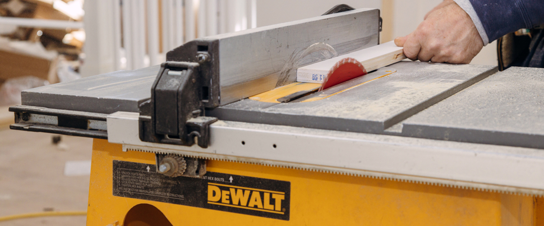 DeWalt Table Saw at a Construction Site