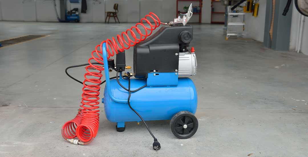 Air Compressor inside a Garage