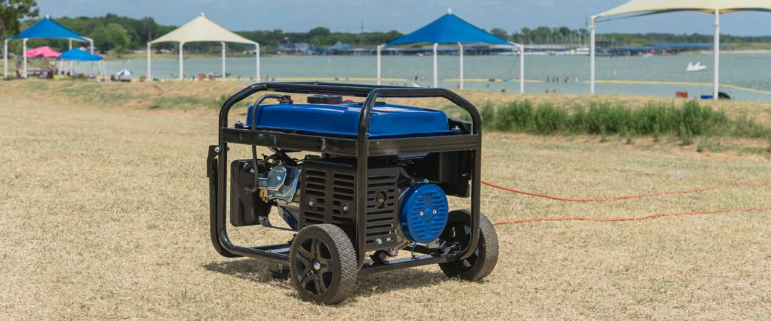 Portable Generator on the Lake Shore