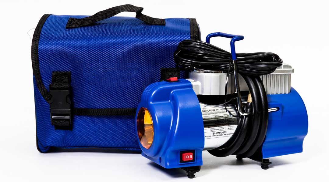 Portable Tire Air Compressor with Blue Case